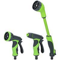 Kinzo 3x Broespistool/spuitpistool/sproeikop set voor tuinslang Multi