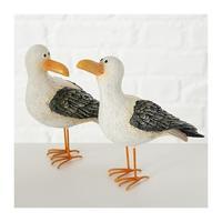 Decoratie dieren beeld meeuw vogel 15 cm Multi