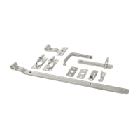 Trendyard Beslagset universeel tbv tuindeur hoog gegalvaniseerd staal