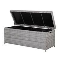 Beliani Kussenbox wicker grijs 158x63 cm MODENA