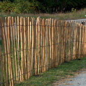 Hekwerk van kastanjehout schapenhek 1,55x5m