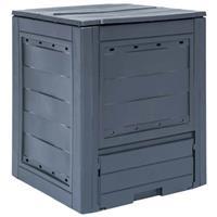 VidaXL Compostbak 260 L 60x60x73cm grijs