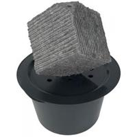 Kubus waterornament natuursteen 38 cm doorsnede