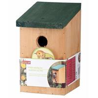 2x Vogelhuisjes houten nestkastjes van 22 cm Multi