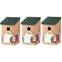 Lifetime Garden 3x Vogelhuisjes houten nestkastjes van 22 cm Multi