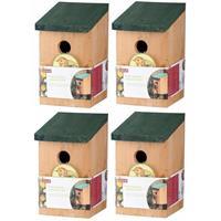 Lifetime Garden 4x Vogelhuisjes houten nestkastjes van 22 cm Multi