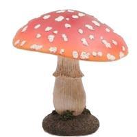 Decoratie huis/tuin beeldje paddenstoel 15 cm Multi