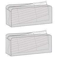 2x Zwarte tuinkussen opbergtassen 130 x 50 x 32 cm Transparant
