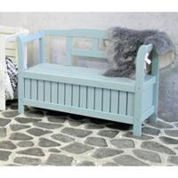 sens-line Pinokkio 2-persoons houten koffer tuinbank blauw