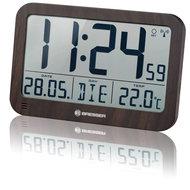 Bresser MyTime MC LCD Klok - Houtlook