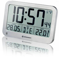 Bresser MyTime MC LCD Klok - Zilver