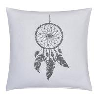 fresh&co Fresh & Co Sierkussenhoes Dream Catcher - Wit/Grijs