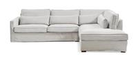 Rivièra Maison LoungebankBrompton Cross' Rechts, Cotton, kleur Ash Grey