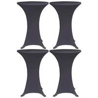 VidaXL Tafelhoes stretch 4 st 60 cm antraciet