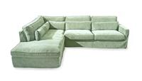 Rivièra Maison LoungebankBrompton Cross' Links, Velvet, kleur Mint