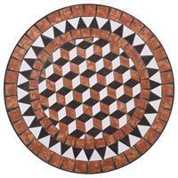 VidaXL Bistrotafel mozaïek 60 cm keramiek bruin