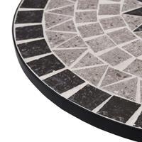 VidaXL Bistrotafel mozaïek 61 cm keramiek grijs