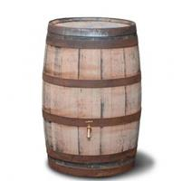 waterton.nl Hergebruikte houten regenton geschuurd 195 liter
