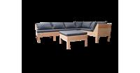Wood4you Loungeset 8- Douglas - incl kussens - 200/200 cm