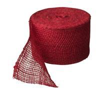 nature Juteband rood 10 cm x 25 m 220 g/m2