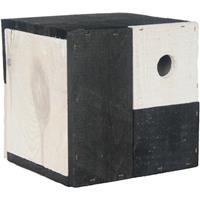 Vogelhuisje/nestkastje kubus zwart/wit 18 x 18 x 18 cm Multi