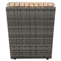 vidaXL Theetafel 41,5x41,5x43 cm massief acaciahout grijs