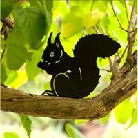 Silhouet etende eekhoorn decoratief