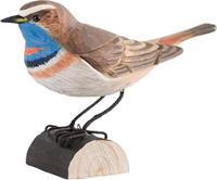 Houten vogel blauwborst