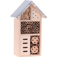 Eigen merk Insectenhotel hout metalen dak