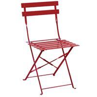 Bolero stalen opklapbare stoelen rood - 2