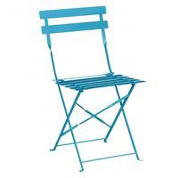 Bolero stalen opklapbare stoelen turquoise - 2