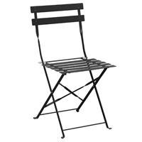 Bolero stalen opklapbare stoelen zwart - 2