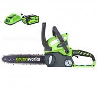 Greenworks 40V kettingzaag + 2Ah accu