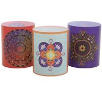 Spiru Windlicht Lampion Mandala-Yoga