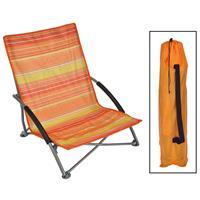 HI Strandstoel inklapbaar 65x55x25/65 cm oranje