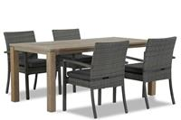 Domani Furniture Domani Solarino/Bristol 180 cm dining tuinset 5-delig stapelbaar