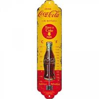 Nostalgic Art Thermometer metaal Coca Cola Yellow Bottles