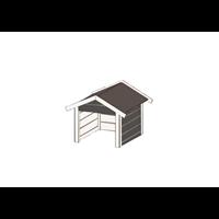 Weka garage voor maairobot 367 antraciet 67x75cm