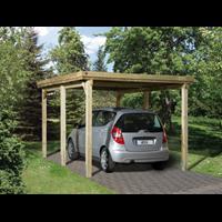 Weka carport 617 Gr.1 onbehandeld zonder dak 294x398cm