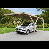 Weka carport-enkel 612 zonder dak 360x606cm