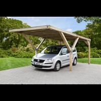 Weka carport-enkel 612 met PVC dak 360x606cm