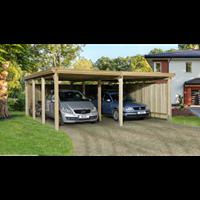Weka carport 618 Gr.2 onbehandeld + dak 576x591cm