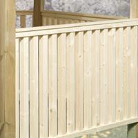 Weka Balustrade onbehandeld voor Prieel 651 88x190cm