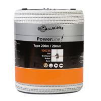 gallagher PowerLine lint 20mm wit 200m