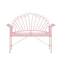 Beliani Tuinbank metaal roze CAVINIA