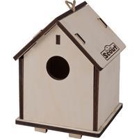 2-in-1 Vogelvoederhuisje/nestkastje van hout 14 x 19 cm - Vogelhuisjes