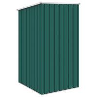 VidaXL Tuinschuur 87x98x159 cm gegalvaniseerd staal groen