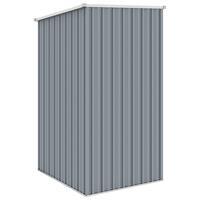 VidaXL Tuinschuur 87x98x159 cm gegalvaniseerd staal grijs