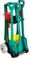 Klein Bosch tuinaccessoireskar 7 delig groen