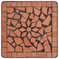 VidaXL Bijzettafel mozaïek keramiek terracottakleurig